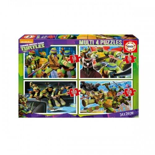 0252_Sestavljanka 4x-Ninja želve Ninja Turtles