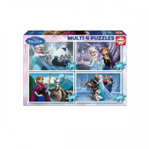 0255_Sestavljanka 4x - Ledeno kraljestvo Frozen