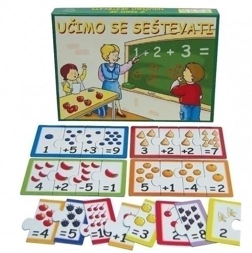 Učimo se seštevati (družabna igra)