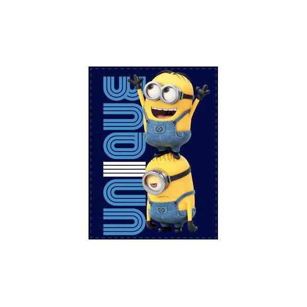 Odeja Minion modra p