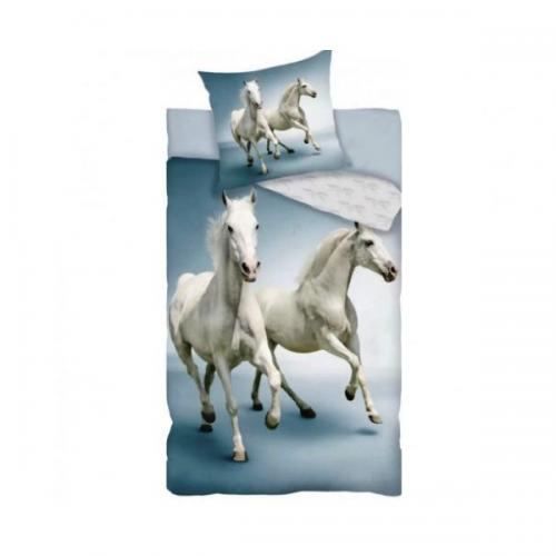 Posteljnina Konja bela 1